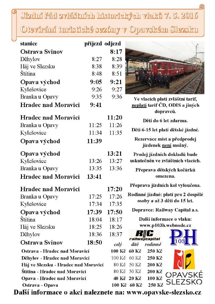 Jizdni rad historickeho vlaku